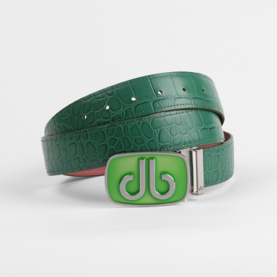 Crocodile Green Belt with Augusta Tinted Buckle